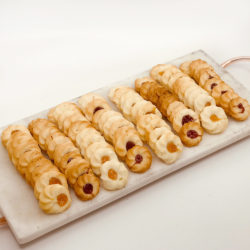 Thumbprint Cookies in Apricot and Raspberry