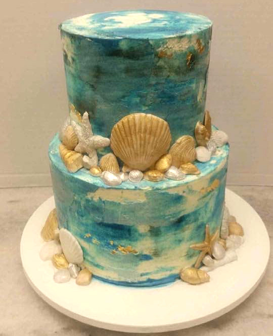 Brilliant Marbled Ocean Pastries By Randolph Funny Birthday Cards Online Aeocydamsfinfo