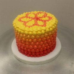 Ombre Floral Smash Cake