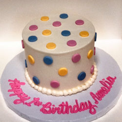 Scattered Dots Smash Cake
