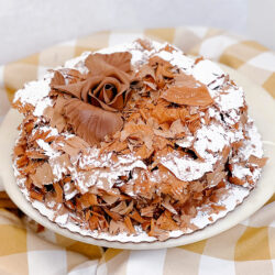 Shaved Dark Chocolate Mouse Cake