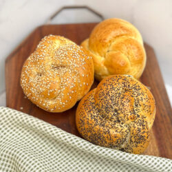 Soft Rolls available in Plain, Poppy, and Sesame