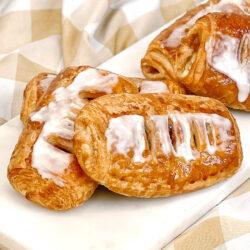 Apple custard croissant