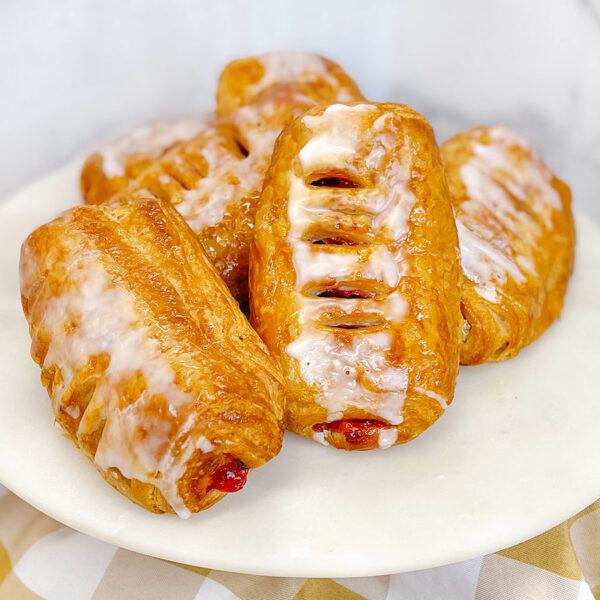 Cherry custard croissant
