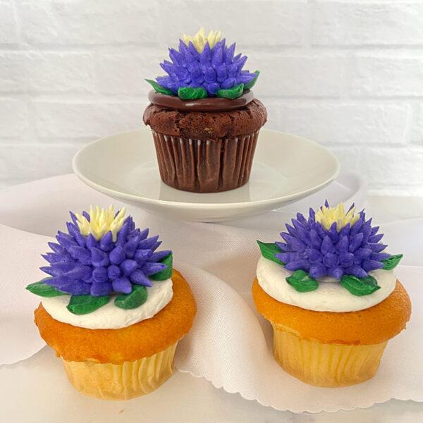 Luna Mae Spiked Flower cupcake