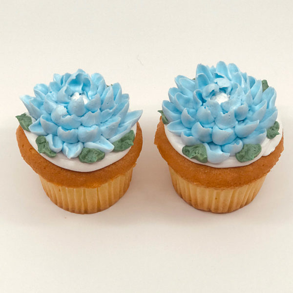 Ophelia spiked flower cupcake