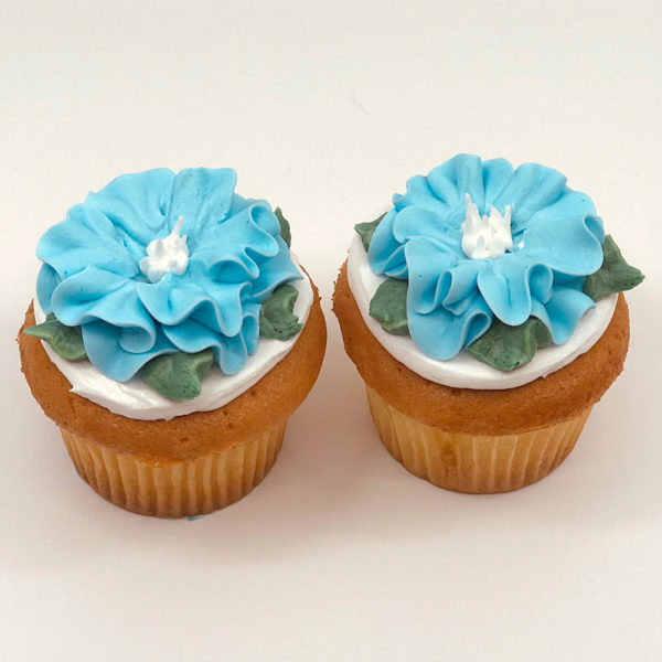 Annabelle ruffled flower cupcake