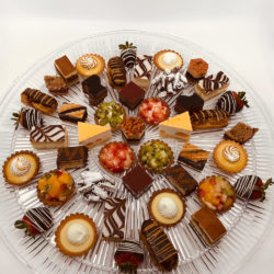 Large platter of mini French pastries
