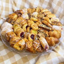 Large platter of mini breakfast items