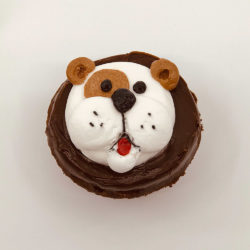 Animated Dog cupcake