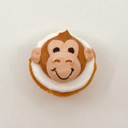 Animated monkey cupcake