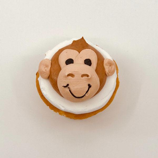 Animated monkey cupcake