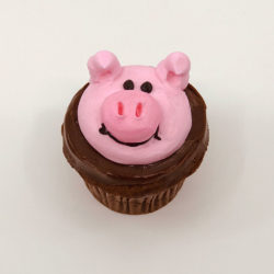 animated pig cupcake