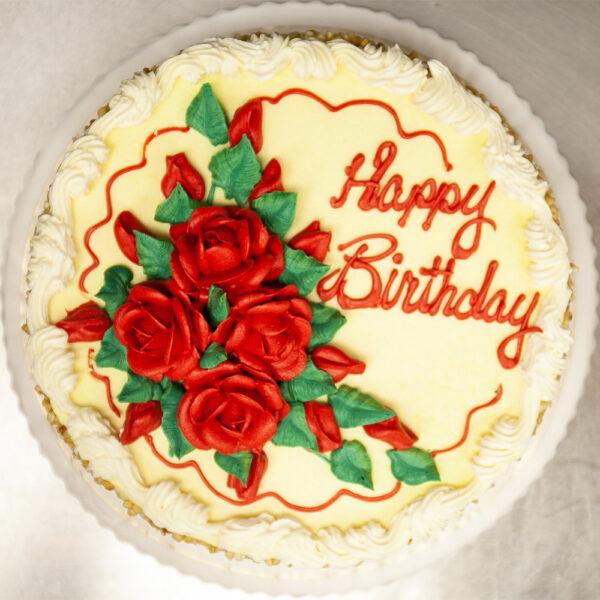 Custom buttercream cake with flowers