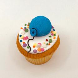 Single balloon cupcake