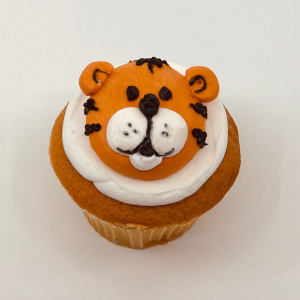 animated tiger cupcake