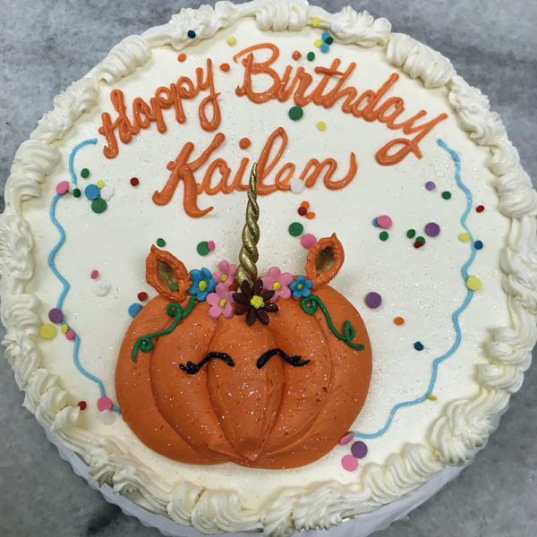 Buttercream Pumpkin Figure Cake