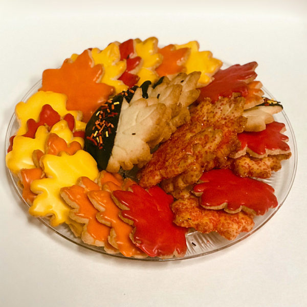 Small Fall Cookie Platter