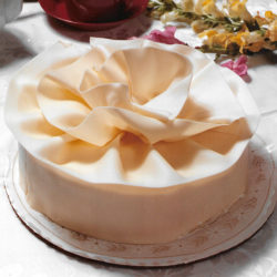 White Chocolate Mousse Ribbon Cake