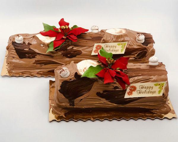 Poinsettia Yule Log, Chocolate