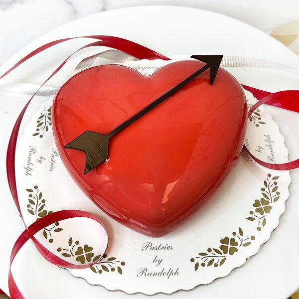 Dark Chocolate Mousse Heart Cake