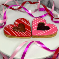 large iced heart shaped cookies