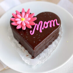 Mother's Day chocolate buttercream heart