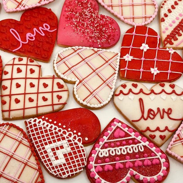 Novelty Valentine Cookies