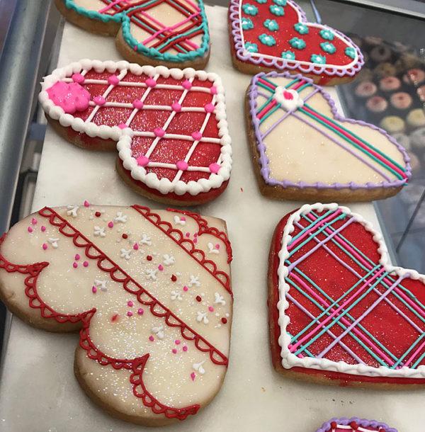 Novelty Valentine Heart Cookies