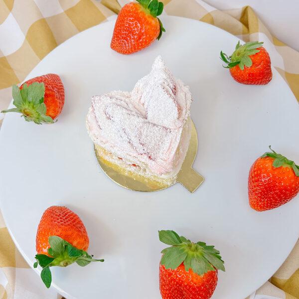 Strawberries and Cream Heart Pastry