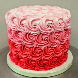 Valentine Ombre Rosette Celebration Cake
