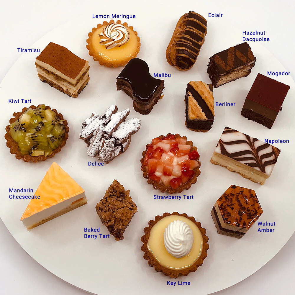 Assorted Mini French Pastries Pastries by Randolph