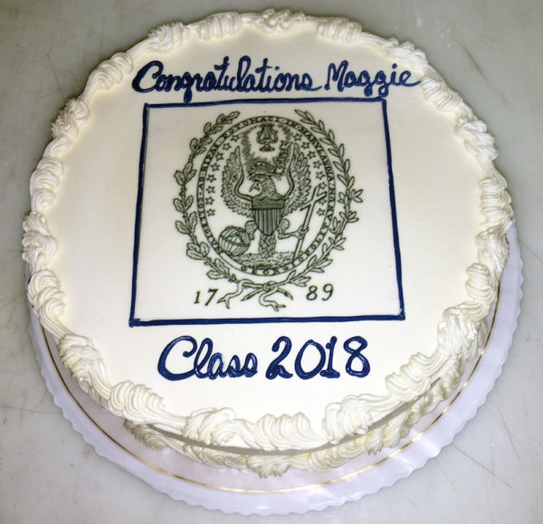 Graduation cake with scan and writing