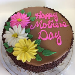 Triple Daisy Mothers Day Cake
