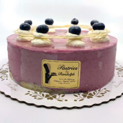 Blueberry Yogurt Mousse Cake with Fresh Blueberries
