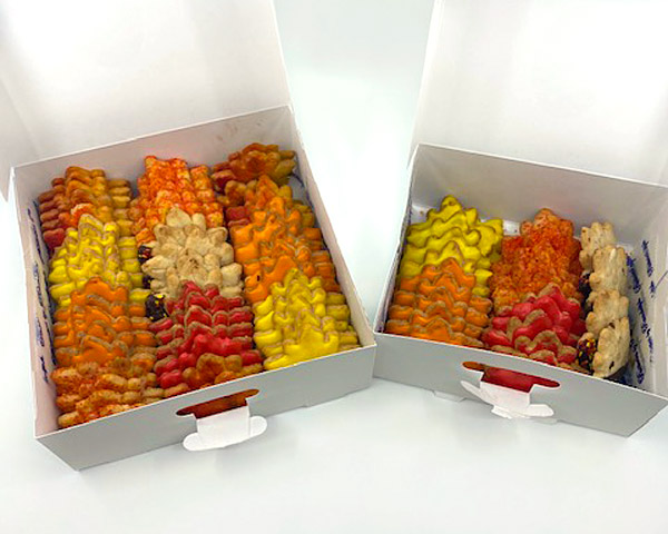 1lb and 2lb box of fall cookies