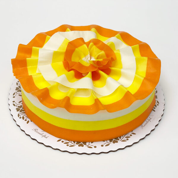 Candy Corn design marble mousse cake