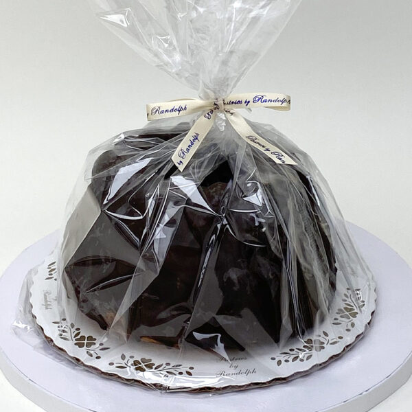 Gift wrapped chocolate dipped Kugelhopf