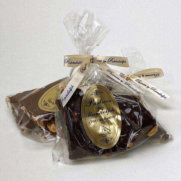 Hazelnut bark in milk and dark chocolate