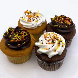 Fall Sprinkle Cupcakes