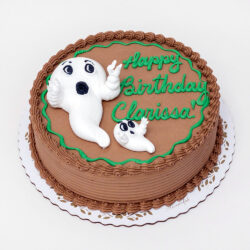 Round Ghosts cake