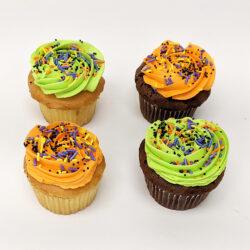 Halloween Tinted Cupcakes
