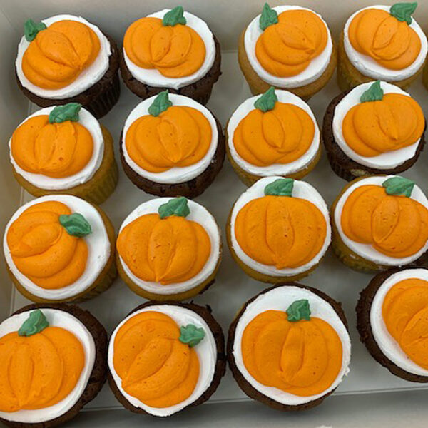 Piped Pumpkin Cupcakes