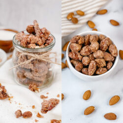 Candied pecans and almonds