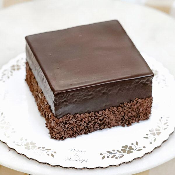 "4"" chocolate buttercream square cake"