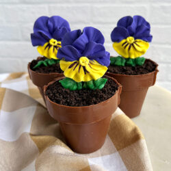 Pansy Flower Pot pastry